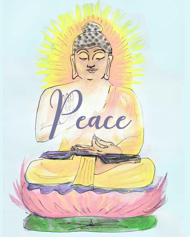 Buddha art - zen art print - digital download - motivational art ...