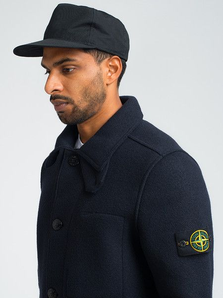 STONE ISLAND BOILED WOOL PEACOAT - NAVY - GENTRY NYC - 4  f7b953a2307f