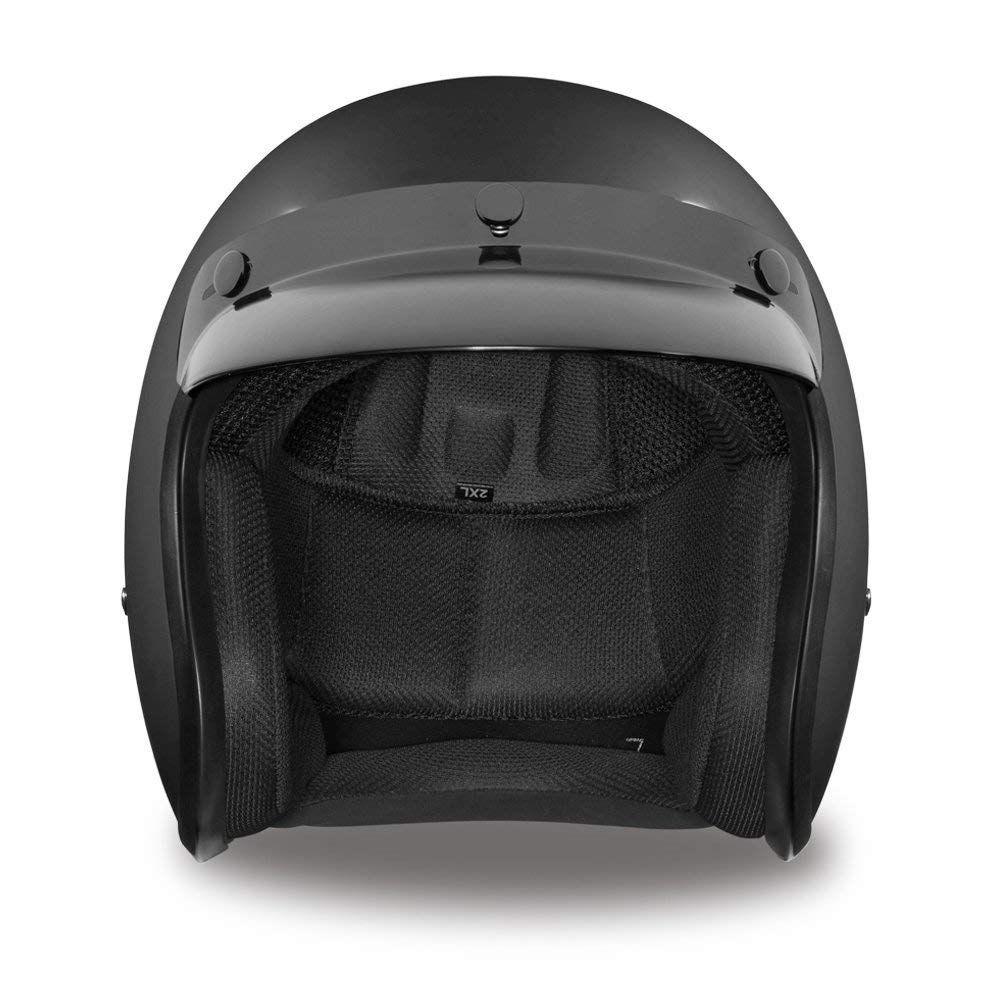 LS2 OF561.1 Wave Black Motorcycle Helmet Scooter Cruiser