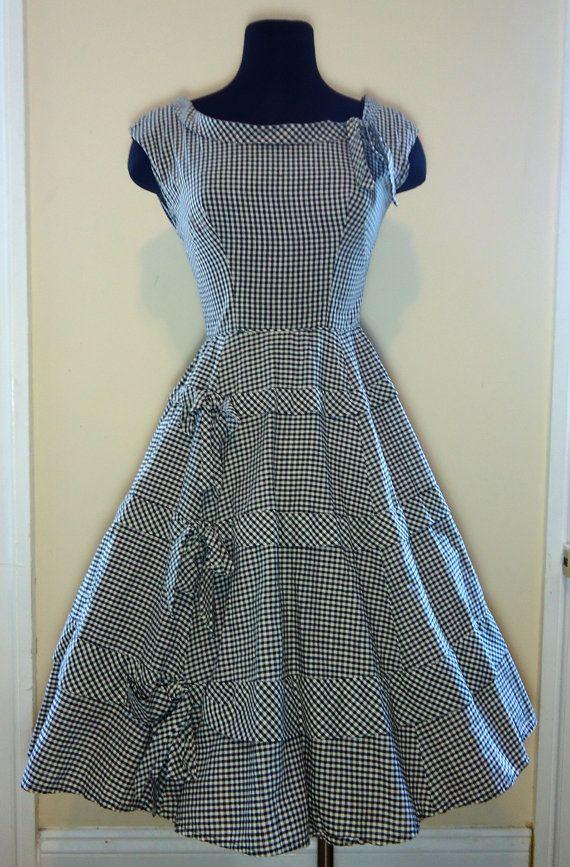 1950's Gingham Dress