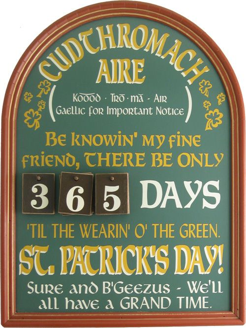 image detail for st patrick 39 s day sign irish wall. Black Bedroom Furniture Sets. Home Design Ideas