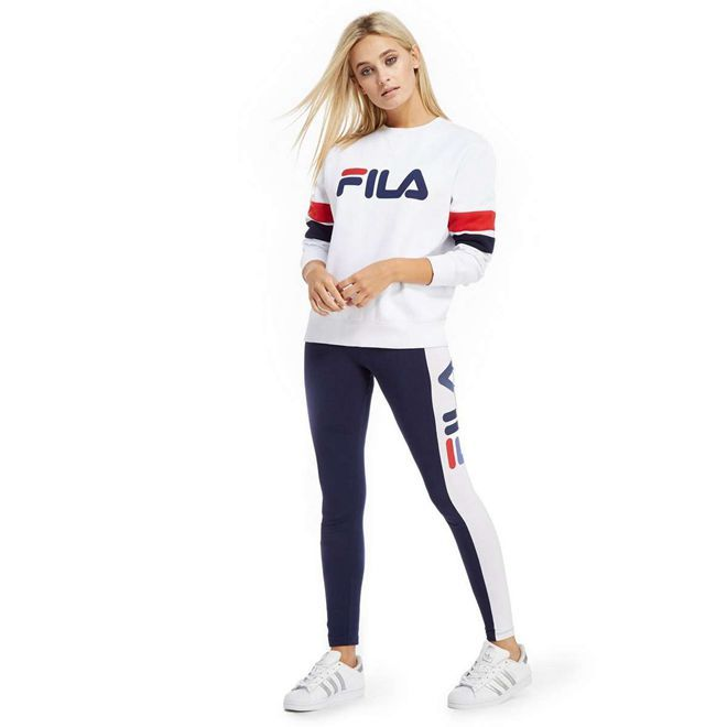 7c0d3412f404 Fila Women Clothing | Factory Price Womens Fila Newton Crew Sweatshirt  White UK484117 Fila Sale