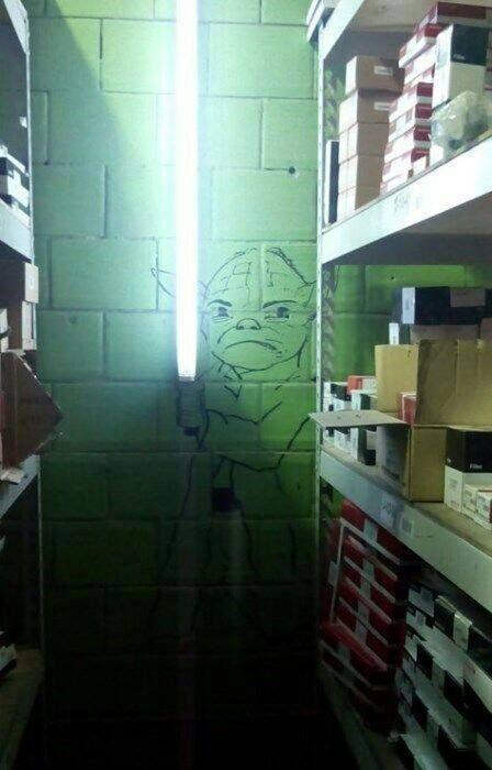 Geek Art Yoda