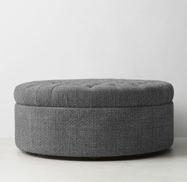 Large Pouf Ottoman Glamorous Rh Teen's Tufted Large Round Storage Ottomanrecalling Sumptuous Decorating Design