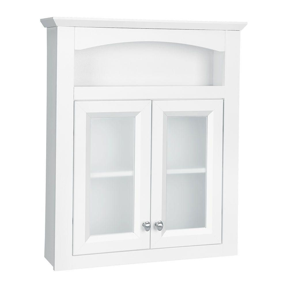Bathroom Wall Cabinet With Frosted Glass Doors Wall Storage