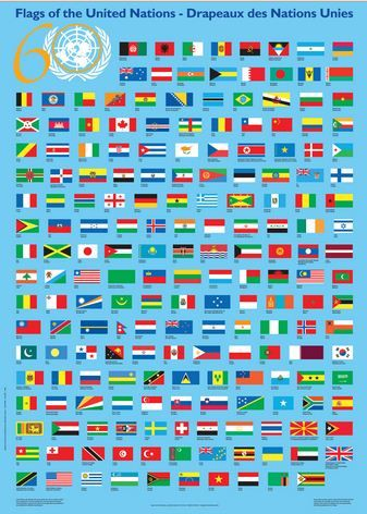 Flags Of United Nations United Nations Flag United Nations Day United Nations Members