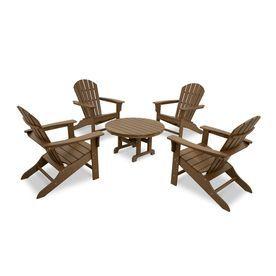 trex outdoor furniture cape cod 5 piece plastic patio conversation