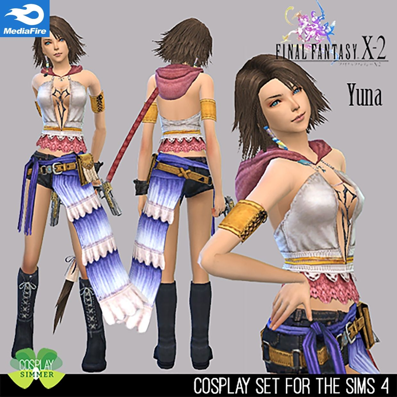 Sims 8 cc) Final Fantasy X-8 Yuna Set [Mediafire]  Final fantasy