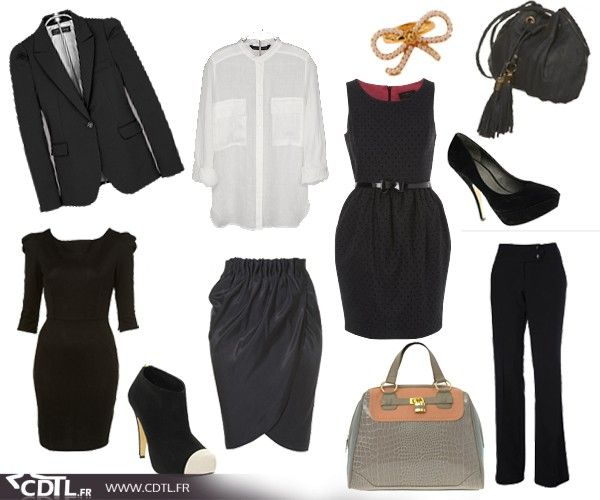 Robe noire quel accessoire
