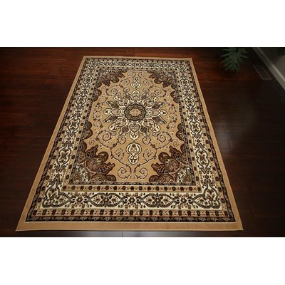 Astoria Grand Treadwell Oriental Wool Beige Brown Area Rug Area