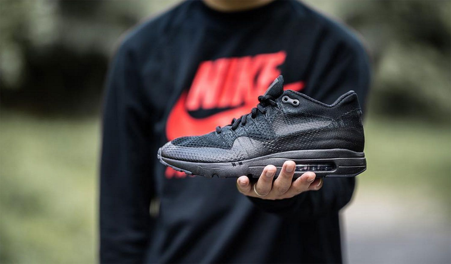 the best attitude 8d985 fb2d5 The Nike Air Max 1 Ultra Flyknit Triple Black Is an Instant ...