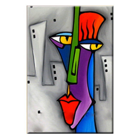 Fabuleux Pop Art Face Tableau Abstrait | art | Pinterest | Tableau abstrait  EJ44
