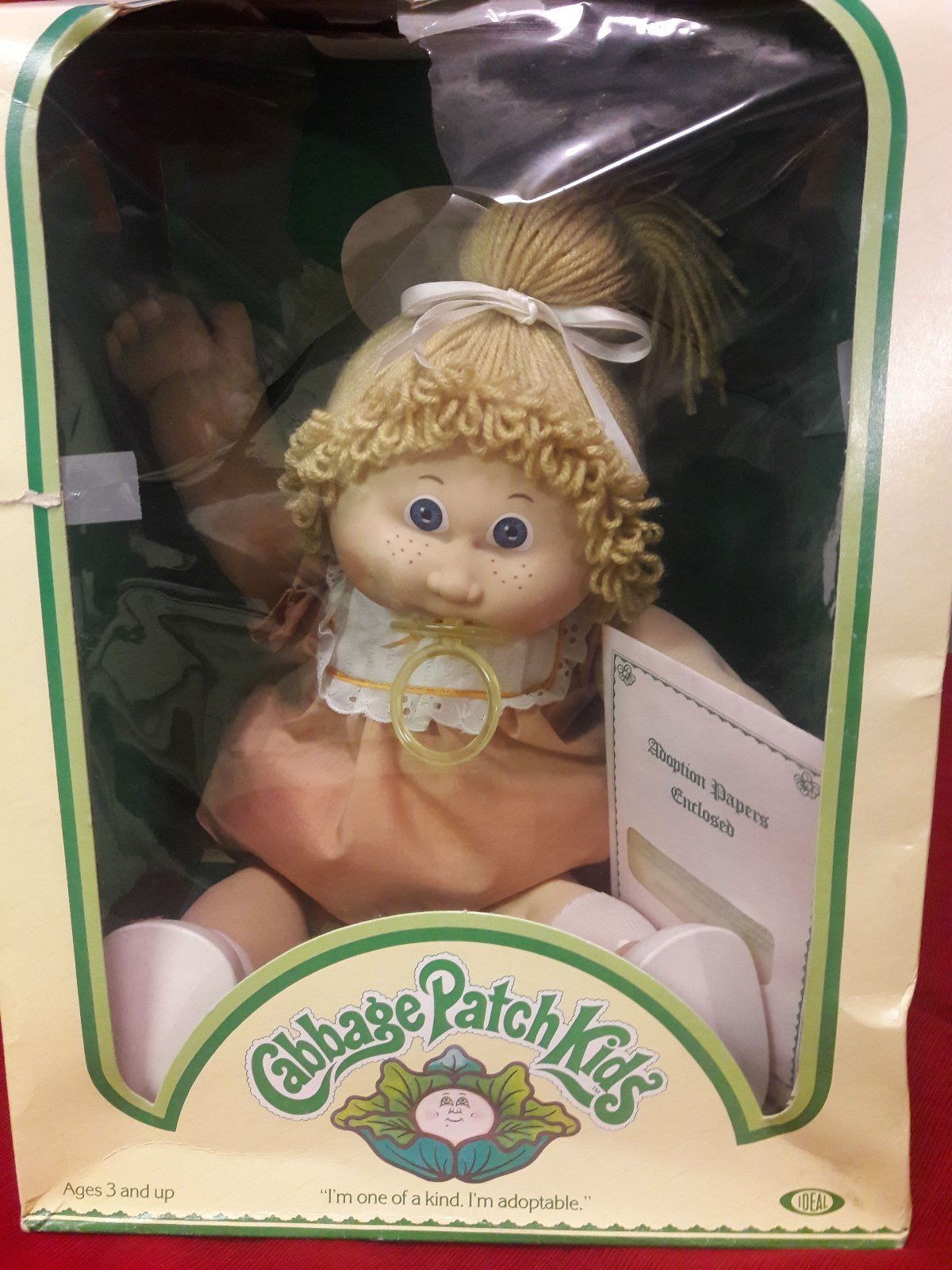 Coleco Cabbage Patch Kids Doll In Box 1983 Blonde Girl Blue Eyes W Adoption Ppw Ebay Cabbage Patch Babies Cabbage Patch Kids Cabbage Patch Kids Dolls