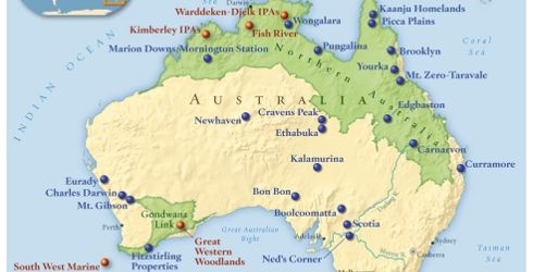 Australia Map Natural Features.Protected Natural Features In Australia Group 17