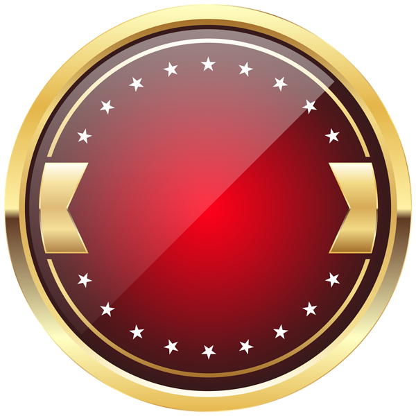 Red Badge Template PNG Clip Art Image