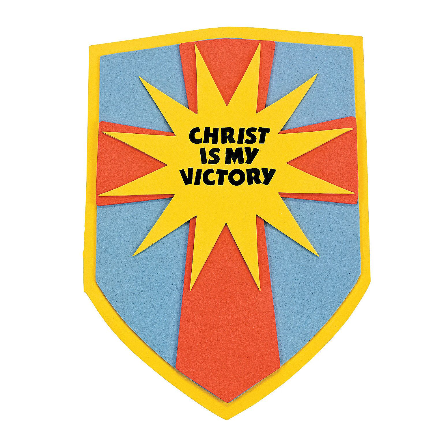 Oriental trading christian crafts -  Christ Is My Victory Shield Craft Kit Orientaltrading Com