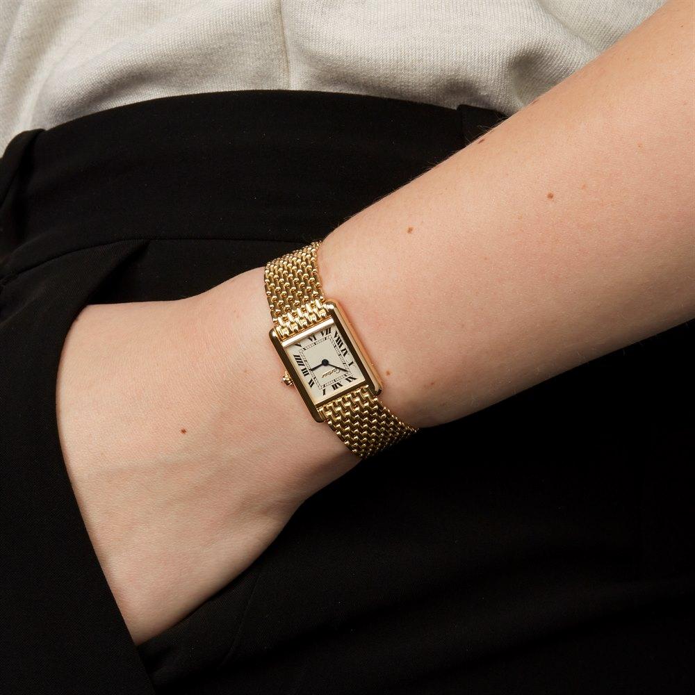 Cartier Tank Women S 1990 S W6160 Second Hand Watches Xupes Second Hand Watches Womens Watches Fashion Watches