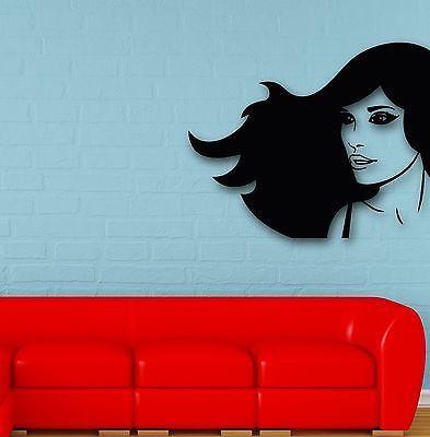 Wall Stickers Vinyl Decal Hot Sexy Girl Hair Beauty Spa Salon (ig674)