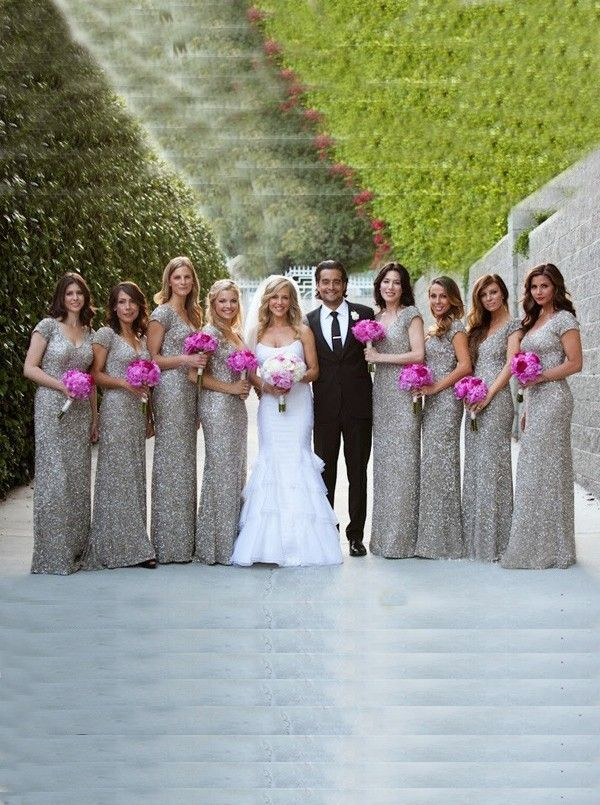 619a52dc647f silver bridesmaid dresses,sequined dresses for wedding,silver dresses for  wedding with short sleeves