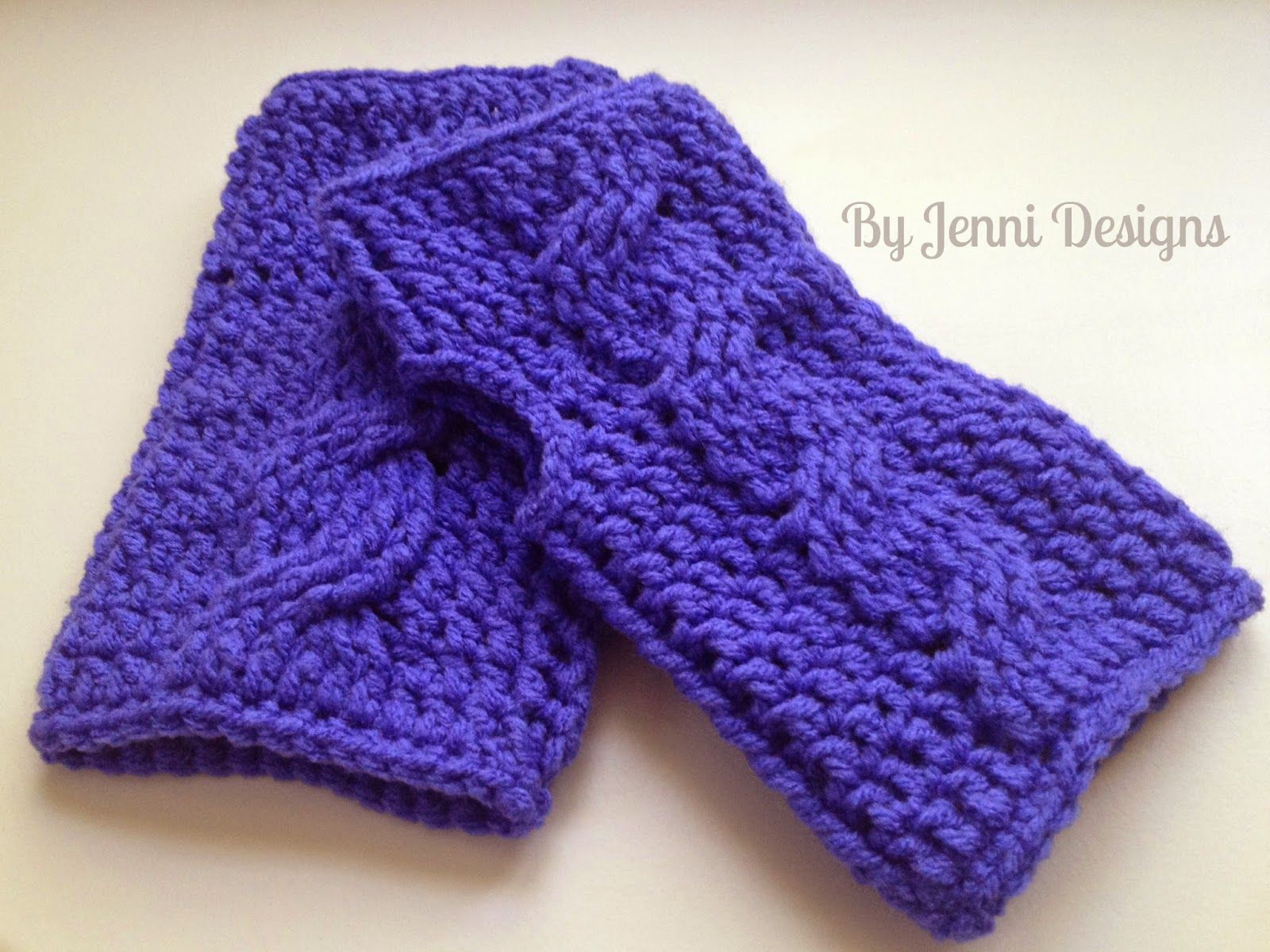 By Jenni Designs Crochet Cable Fingerless Gloves Pattern Crochet Fingerless Gloves Cable Fingerless Gloves Crochet Gloves