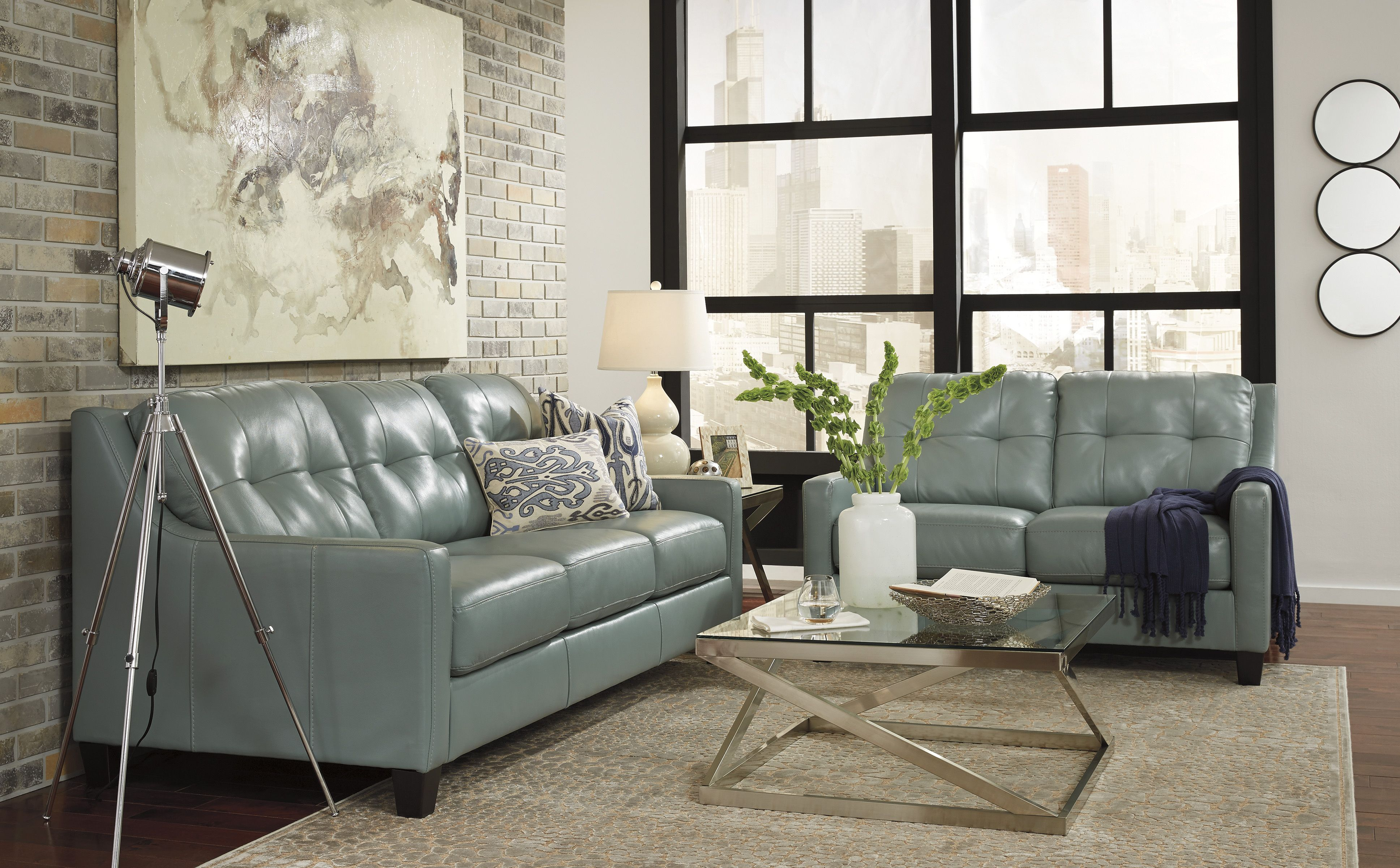 Pin By Reids Liquidation On Ashley Leather Living Rooms