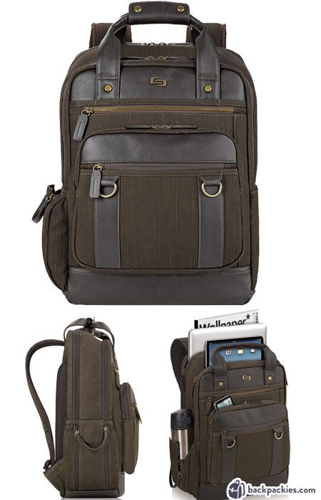 c073378153 Solo Bradford business backpack - Backpacks cheaper than Tumi - backpackies .com