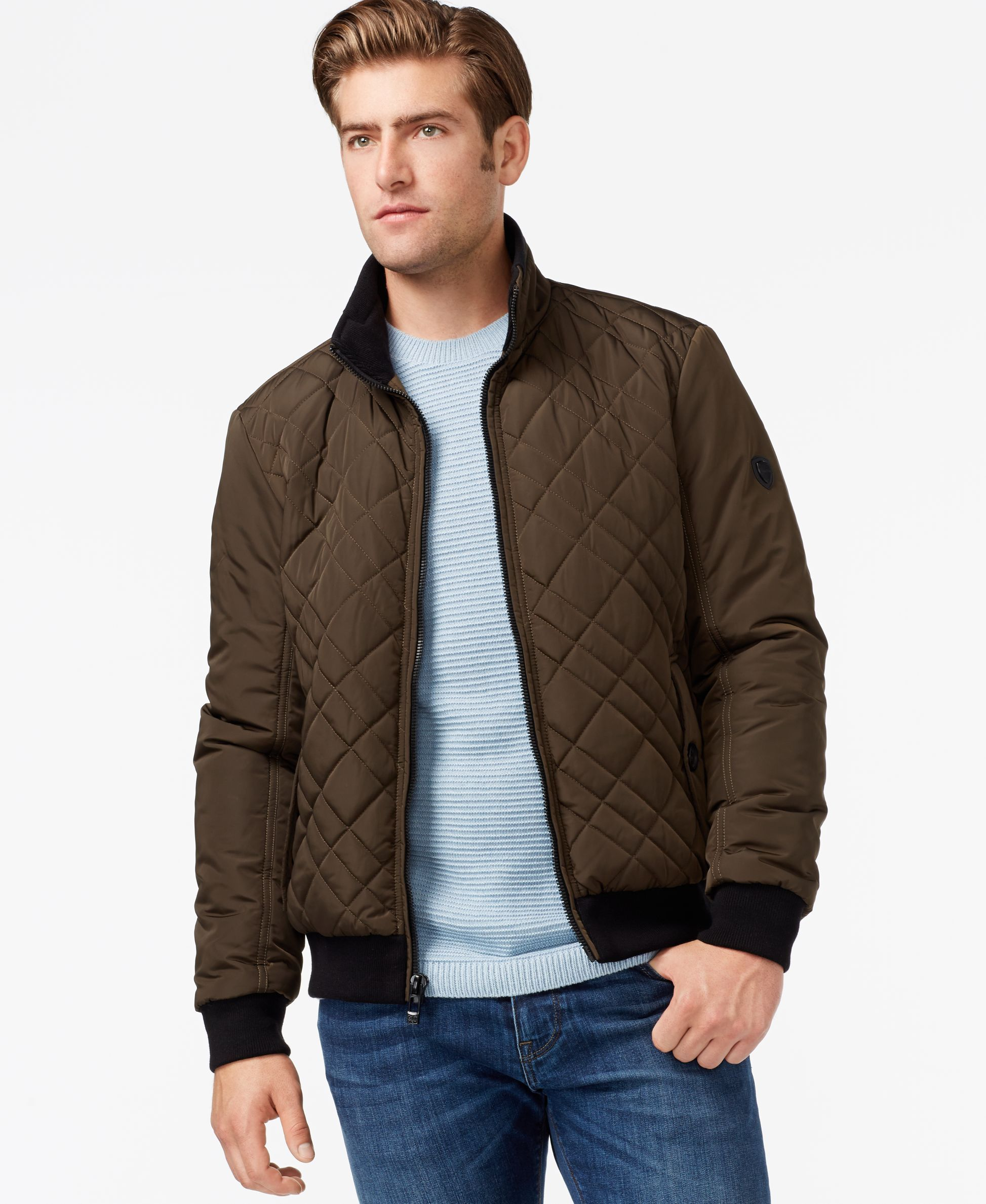 quilt star soul padded cord coat quilted winter bla new itm jacket patches diamond mens hunter