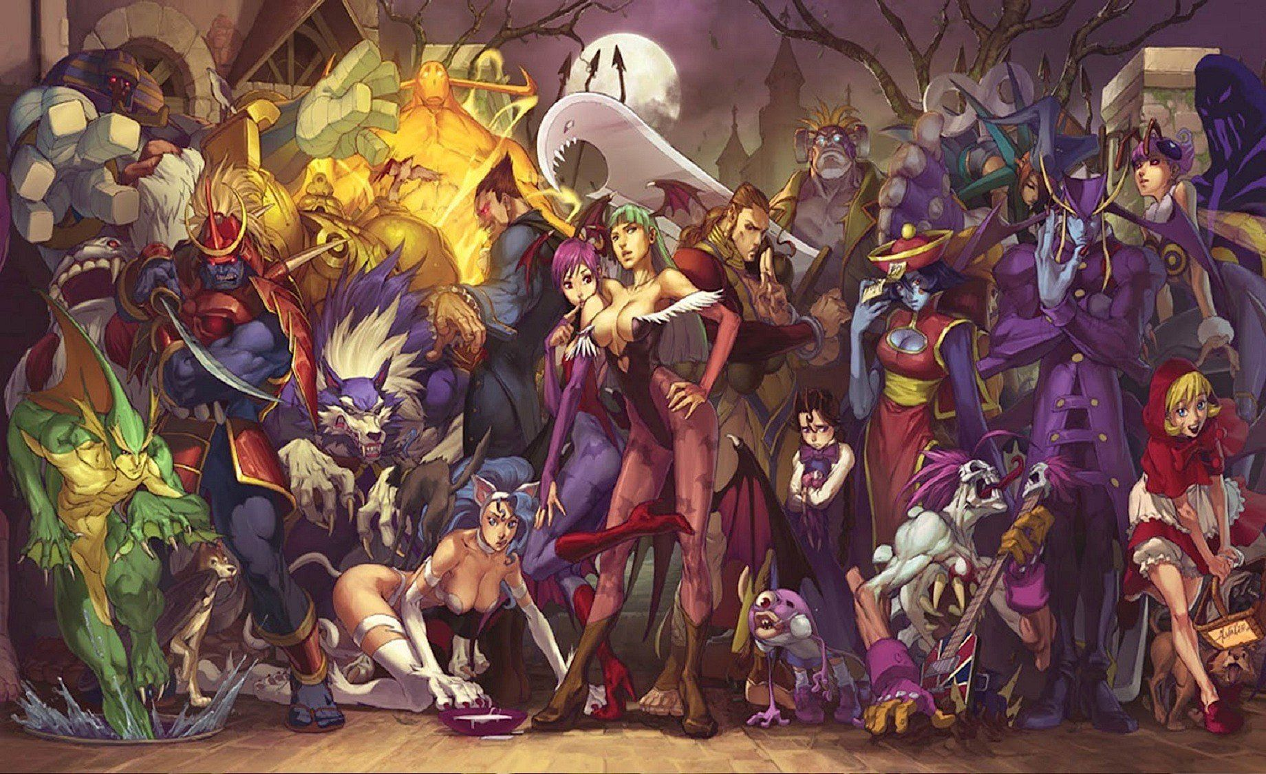 Darkstalkers Vanpaia Vampire Fighting Capcom Anime Gothic Fantasy