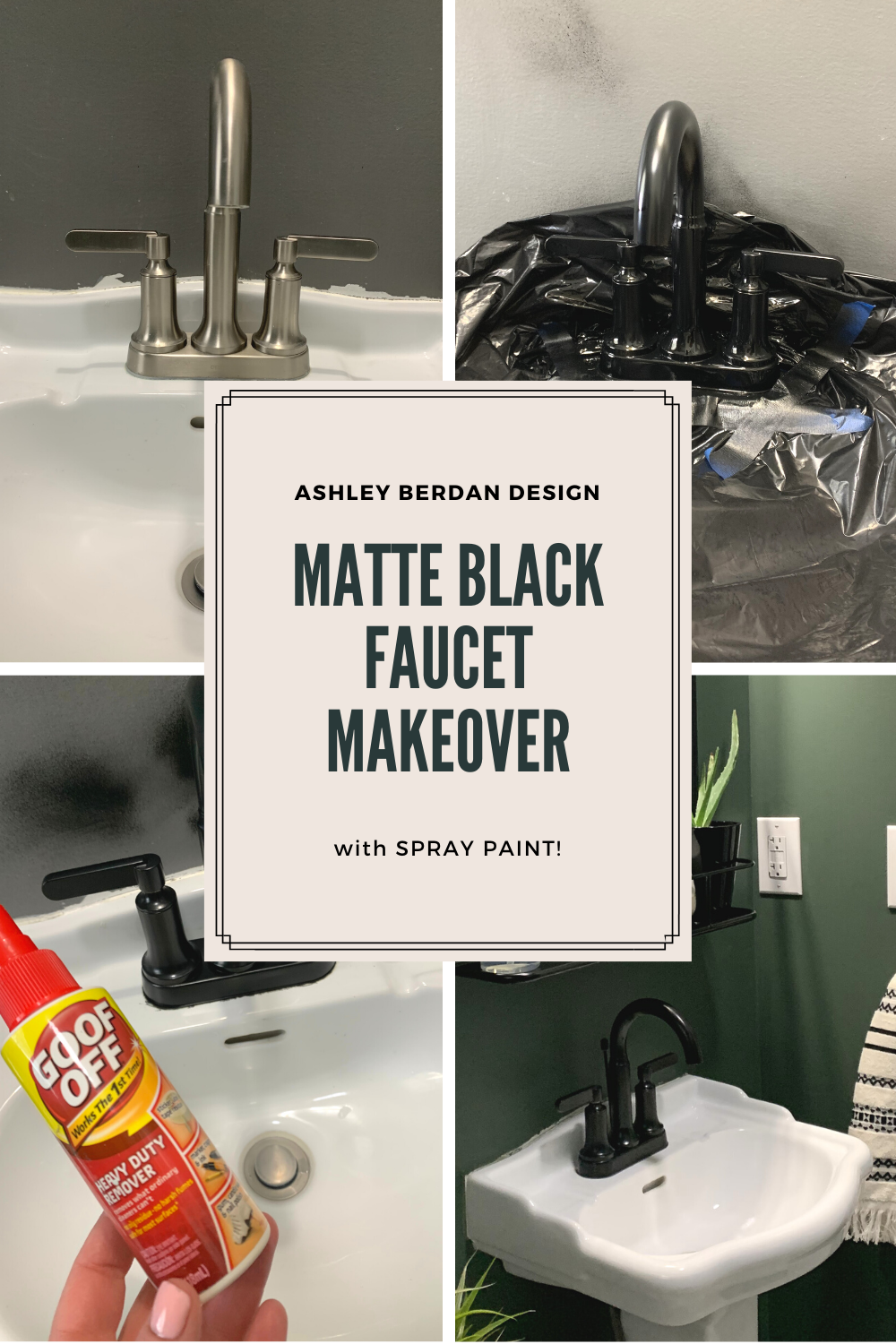 Matte Black Faucet Makeover With Spray Paint In 2020 Black Faucet Matte Black Faucet Matte Black Spray Paint