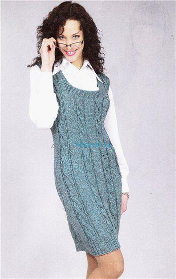 сарафан спицами самое интересное в блогах вязаные платья