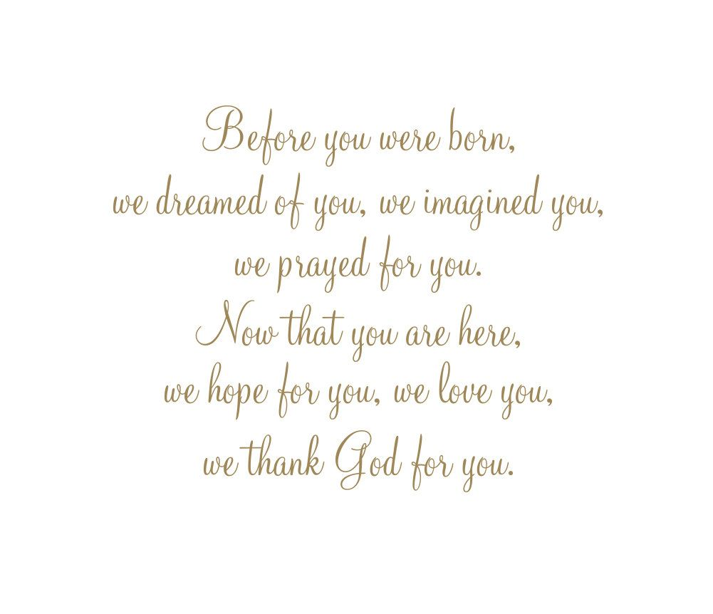 nursery wall decal before you were born we dreamed of you before you were born we dreamed of you imagined you prayed for you vinyl wall decal quote saying poem for boy girl baby nursery