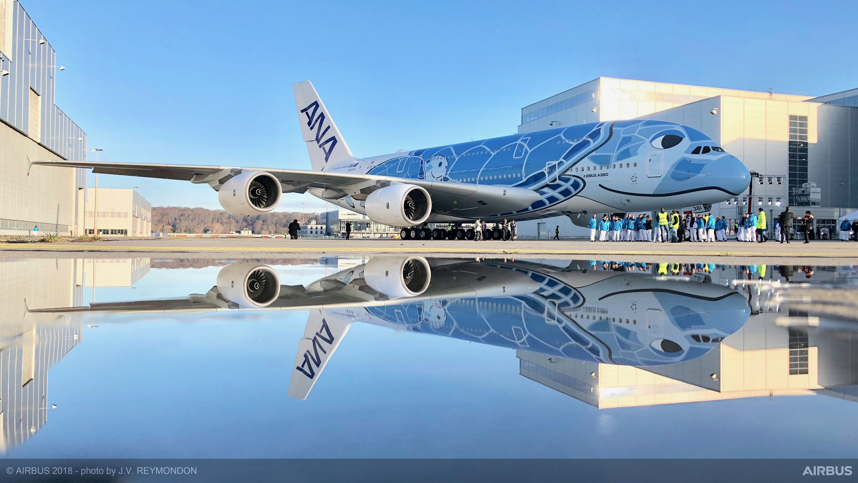 ANA's first A380 enters a final phase of ground and flight