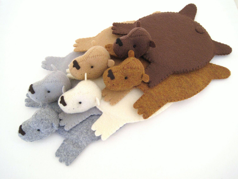 Bear Coaster (Set di due) di Dandyrions / Oggettistica per
