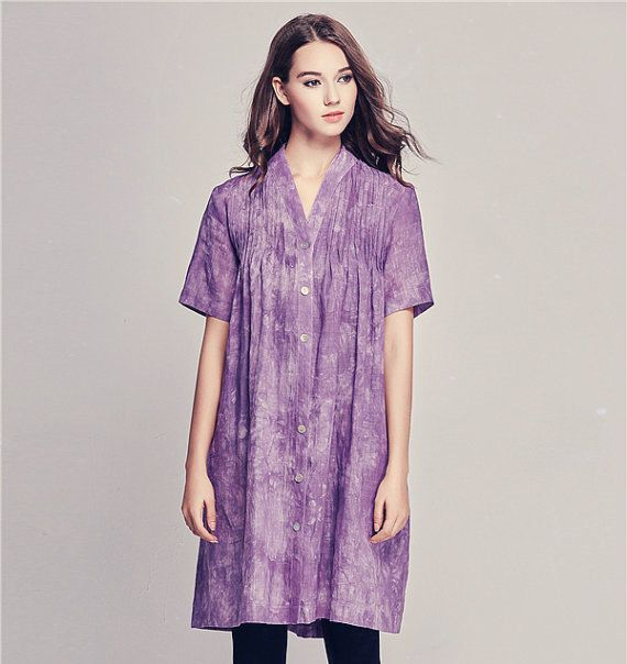 Oversized squashed grape linen