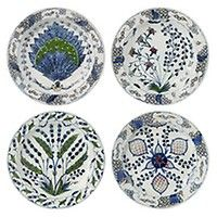 Isphahan Porcelain Starter Plates, Set of 4
