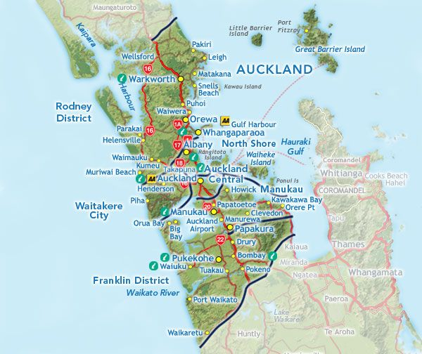 Auckland Regional Map.... Private n\' Peaceful Parnell is on ...