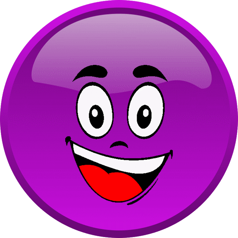 Cg smiley violet heureux motic ne clipart cartoon - Dessin avec emoticone ...