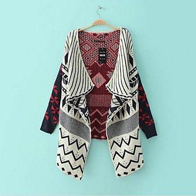 Women\'s Multi-color Cardigan , Casual Long Sleeve | Chaqueta de ...