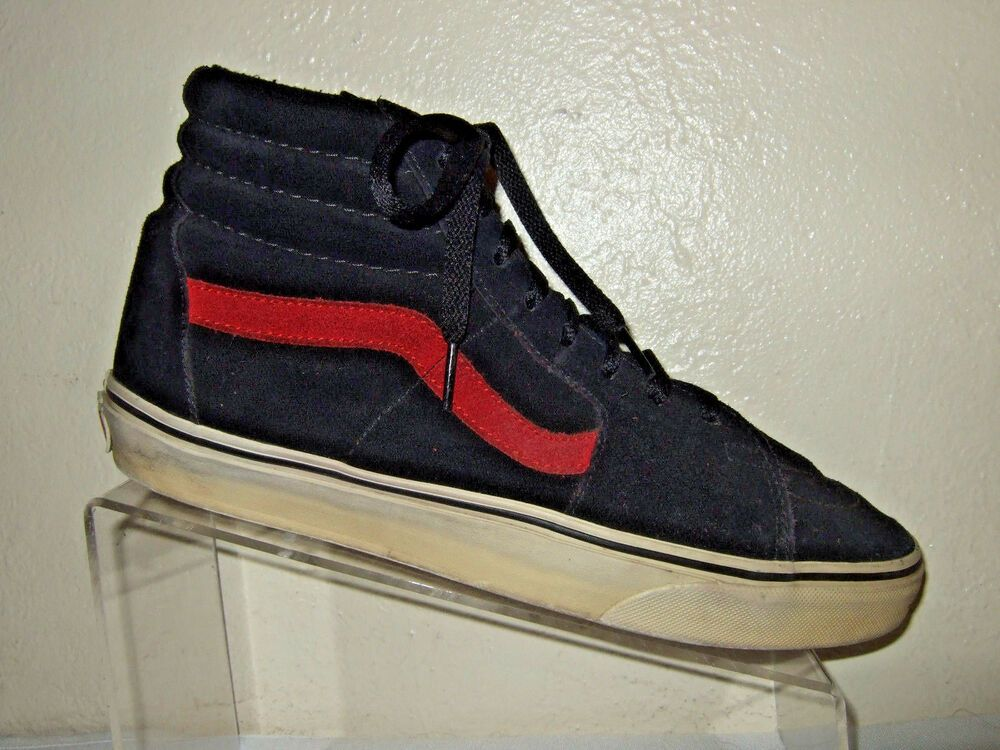 eBay Ad) VANS Off The Wall BlackRed Suede High Top