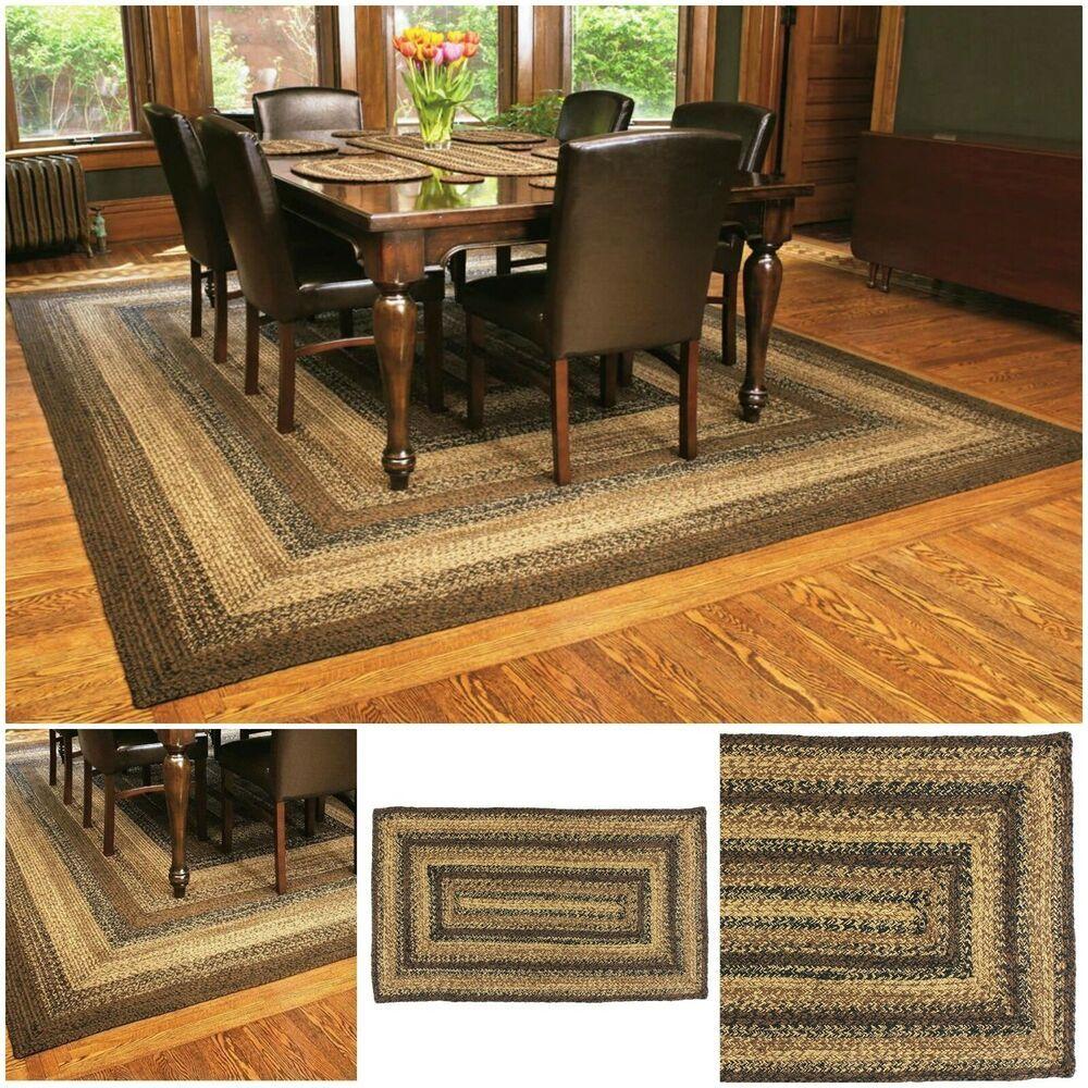 Farmhouse area rugs 8x10 rectangular braided living room