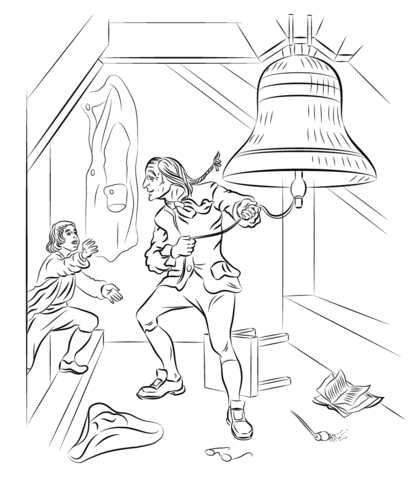 Liberty Bell Coloring page | Sam the Minuteman Enrichment Activities ...