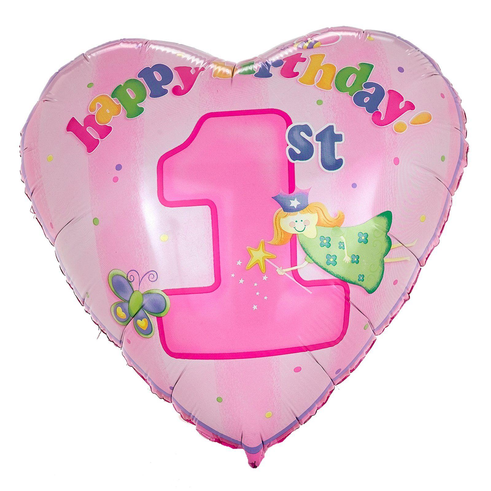Heart Balloon And Happy 1st Birthday My Sweet Natalie