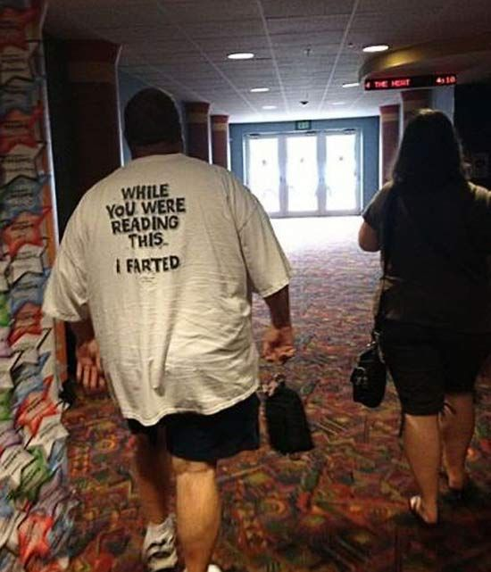T-shirt: Whil you were reading this I farted ~ 16 Funny Family Photos