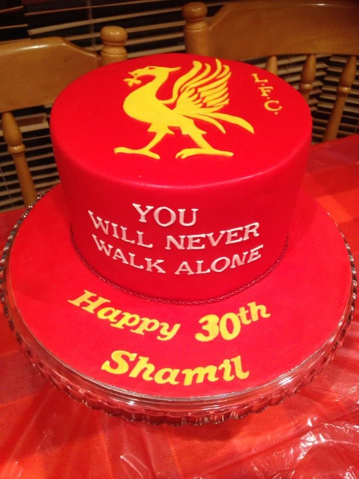 Liverpool Football Club Birthday Themed Cake Created By