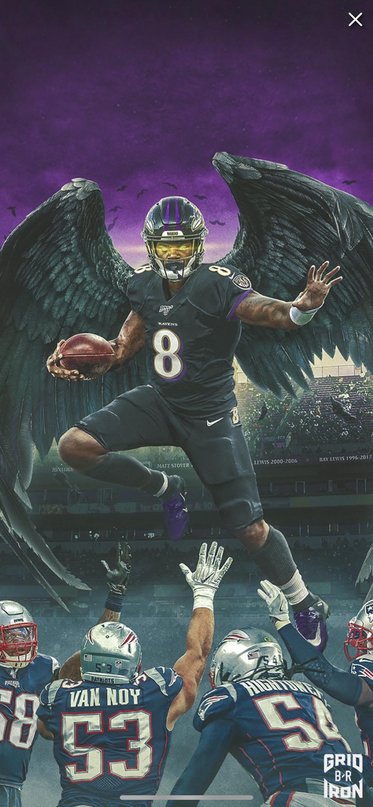 Lamar Jackson Baltimore Ravens Football Nfl Football Art Ravens Football