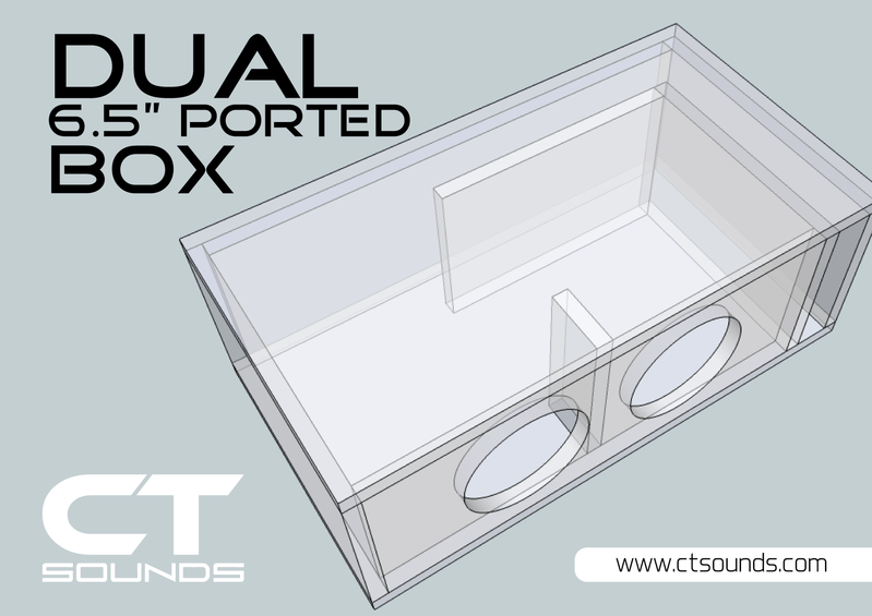 Dual 6 5 Inch Ported Subwoofer Box Design Subwoofer Box Design Subwoofer Box Box Design