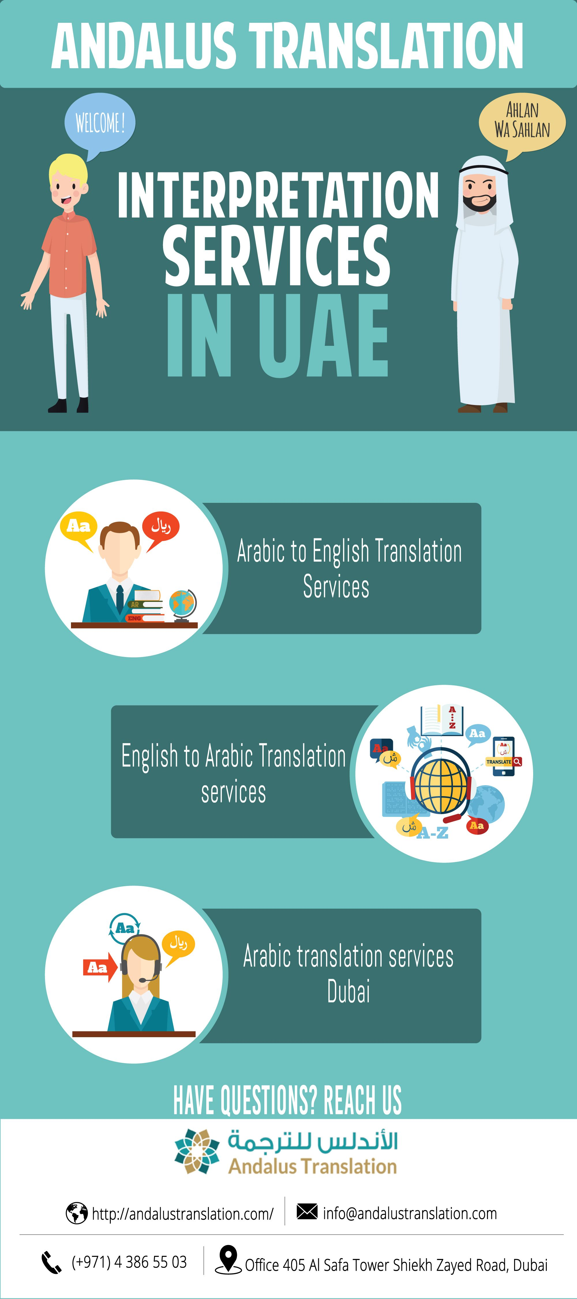 Interpretation Services Dubai Andalus Translation Arabic To English Translation Interpretation Translation