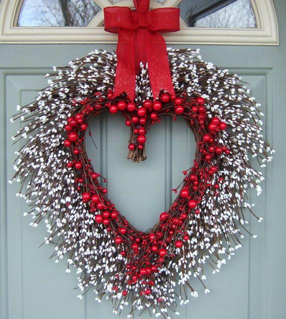 Valentine Wreath Valentine Door Wreath Heart Wreath
