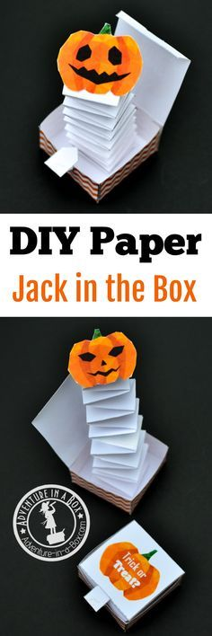 jack in the box paper toy with a free printable template riseup