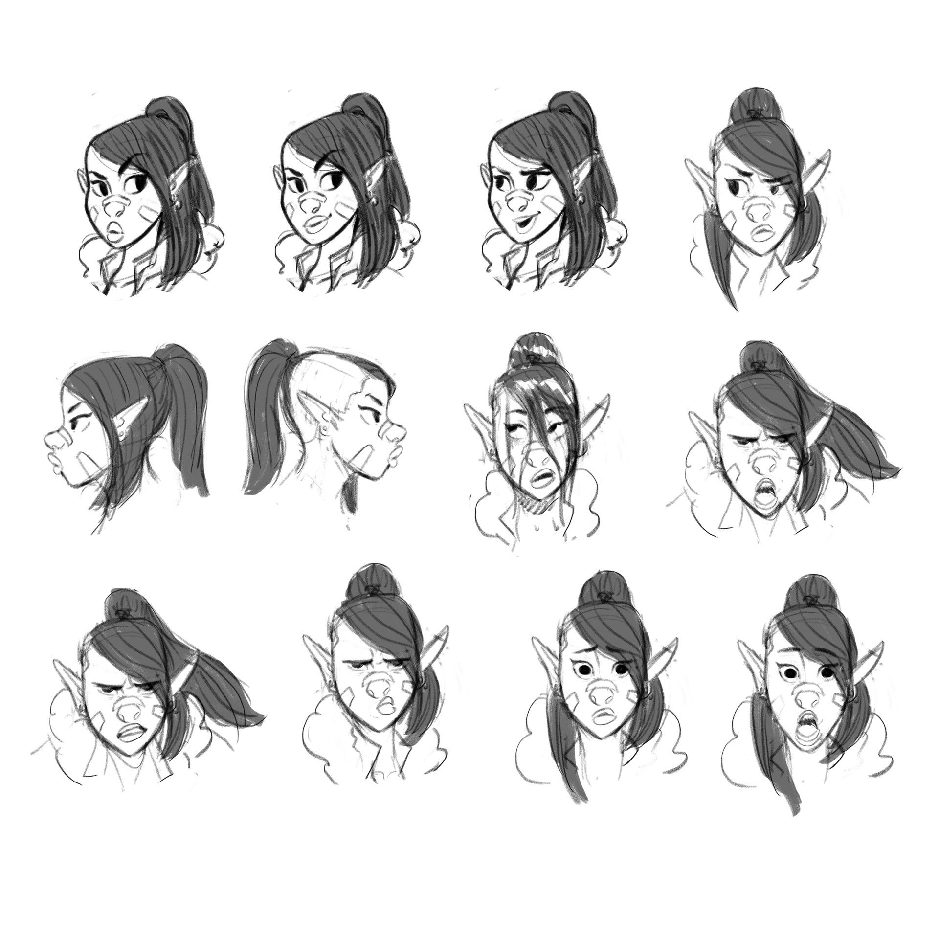 Character Expressions Concept Art